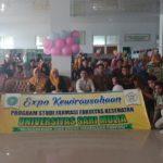 """Expo Kewirausahaan Jurusan Farmasi dengan tema """"Mengobarkan Jiwa Usaha Mahasiswa Farmasi"""""""