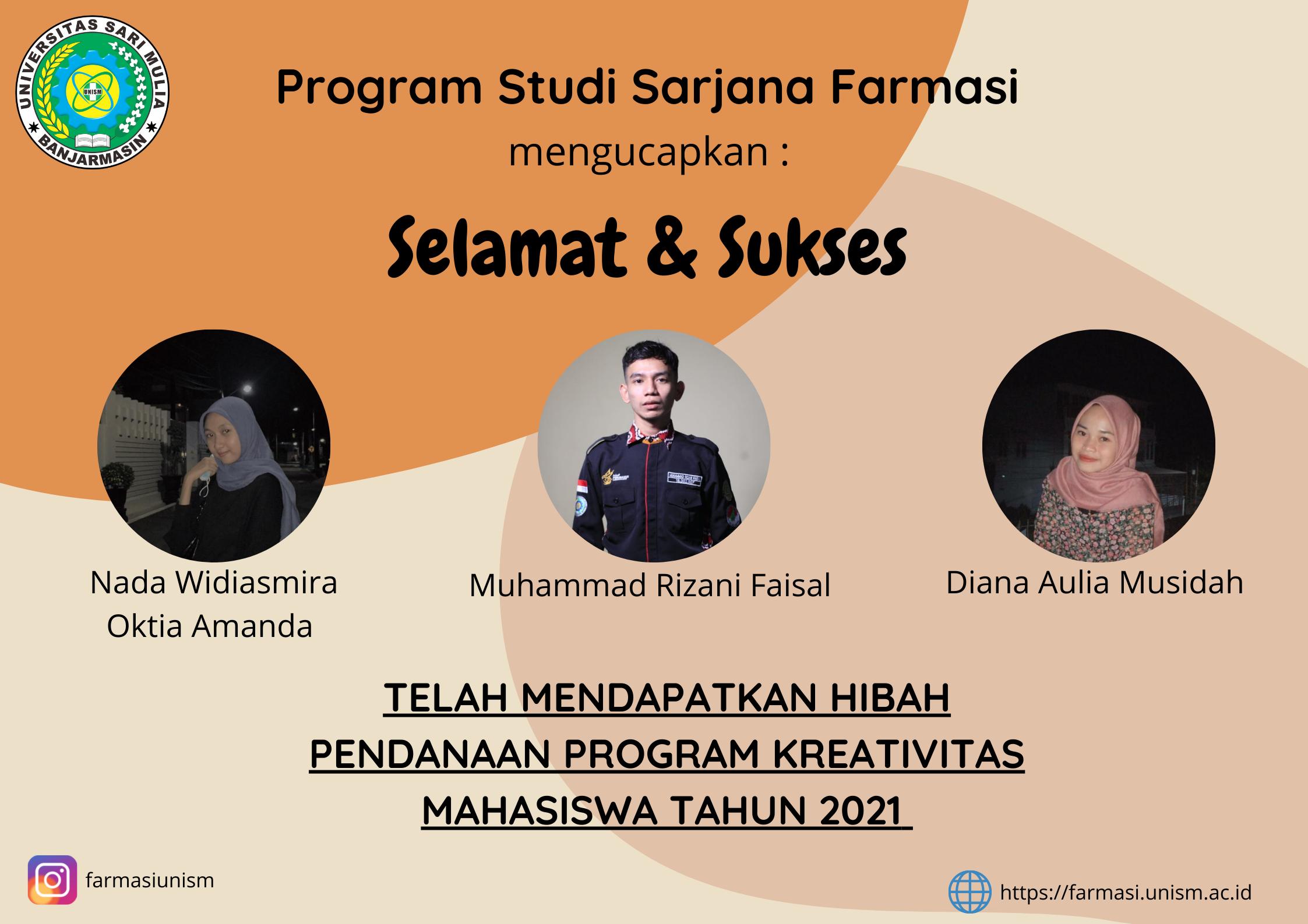 Hibah Program kreatifivitas Mahasiswa 2021