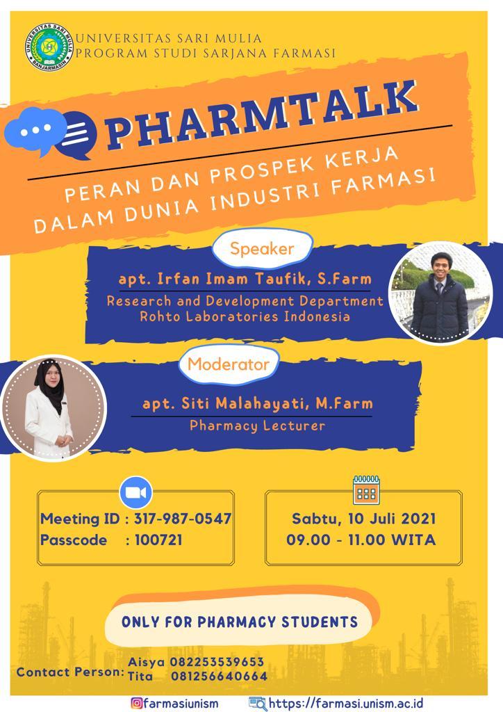 """Pharmtalk"" Industri Farmasi"